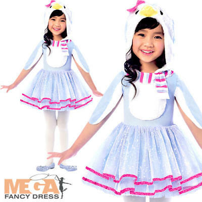 Penguin Girls Fancy Dress Bird Animal Christmas Winter Childs Kid Costume Outfit