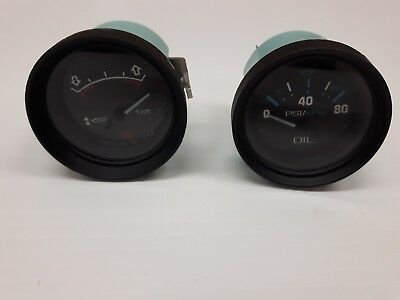 Set of 2 Teleflex Gauges, 56932 Oil Gague, 53216 Trim Gauge