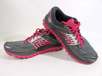 ba59dcd3de Womens Brooks Glycerin 14 Running Athletic Shoes Anthracite Azalea Pink  Gray 9.5