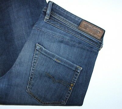 9adb5660 DIESEL BELTHER 0814W STRETCH Regular Slim Tapered Men Blue Jeans, Size W34  L32 - £19.99 | PicClick UK