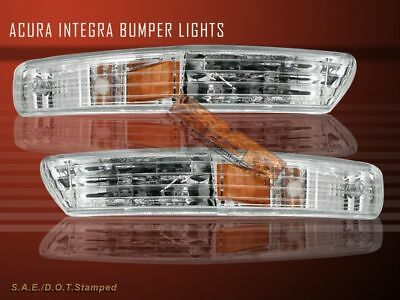 98 99 00 01 Acura Integra Clear Signal Bumper Lights