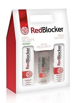 Redblocker Set Day Cream/night Cream/micellar Water/krem Na Noc/na Dzien/plyn