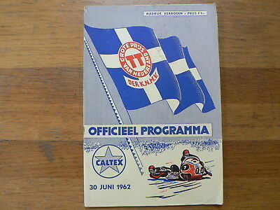 1962  Dutch Tt Assen Programme Grand Prix Moto Gp,shorey, Mcintyre,avery,ito,cs