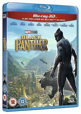 BLACK PANTHER Blu-ray 3D + 2D + Bonus (REGION FREE) US SELLER Same Day Shipping