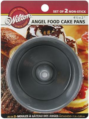 "Wilton-Mini Angel Food Cake Pans 2/Pkg-Round 4 ""x 2"", altri, multicolore"