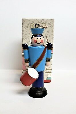 Vintage Avon Nutcracker Christmas Ornament Collection The Soldier with Box 1984
