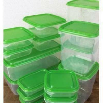 IKEA PRUTA Plastic Container / Food Storage Containers 17 Piece Set+Free...