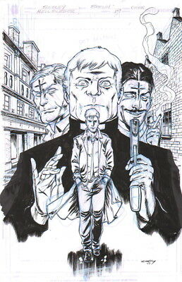Tim Seeley 2017 Hellblazer 19 Cover Orig. Art-John Constantine! Free Shipping!