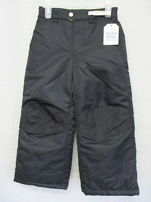 Faded Glory Boys/Girls Lined Snow Pants with Zipper Fly and Snap Closure XS(4-5)