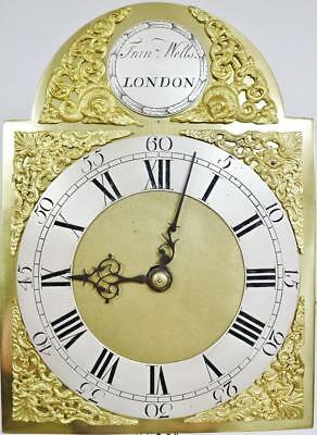 Antique London English Weight Driven Bronze Striking Cubed Lantern Wall Clock