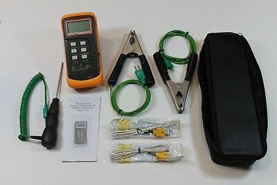HVAC Thermometer Kit Two Clamp Probes, Liquid Probe, Two Wire Air Probes, Case ?