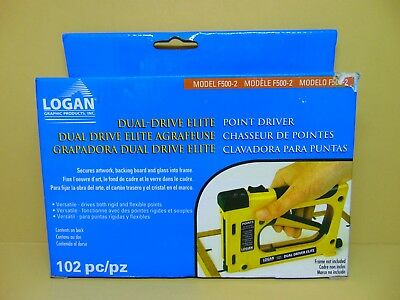 LOGAN GRAPHIC F500-2 Dual Drive Elite Picture Framing Point Driver ...