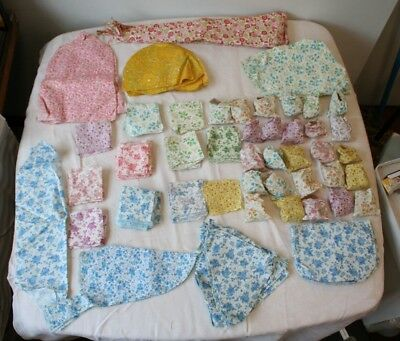 Vintage Feedsack Quilt Block 100's of them some started for bubble puff 2lb 5oz