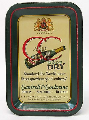 1920s CANTRELL & COCHRANE C and C Pale Dry GINGER ALE tin litho tip tray ashtray