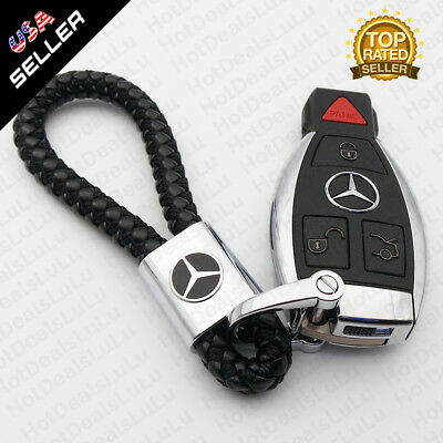 """Universal Red Key chain Ring BV Style Calf Leather Gift Decoration 4.8/""""x0.78/"""""""