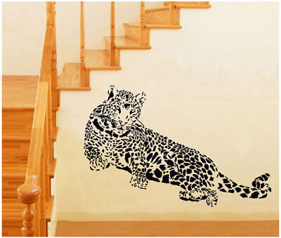 Huge Leopard Panther Removable Wall Sticker Decal Decor Room Mural