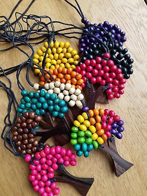 P1 set of 10 wholesale clearance wooden tree of life necklace pendant