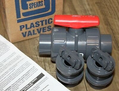 New Spears 3629-007 True Union 2000 3/4 In Socket Pvc Ball Valve