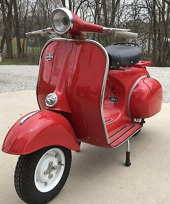 Restored Red 1963 Allstate Vespa Vic Fletchall Owned and Restored