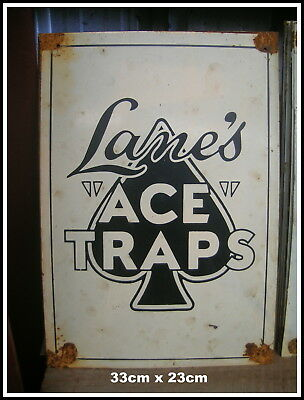 Ace Traps Lanes  Ozzie Tin Sign Not A Trap Free  Traps Dvd  Freepost Australia