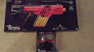 Nerf Rival Khaos MXVI 4000 Blaster Red with face mask