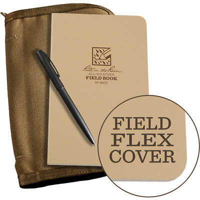 Rite in the Rain All-Weather Field Book Kit - Tan - No. 980T-KIT (pen + cover)