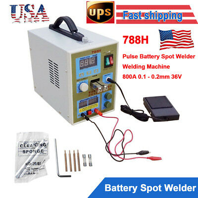 788H 2 In 1 Double Pulse 18650 Battery Spot Welder Charger 110V Welding Machine