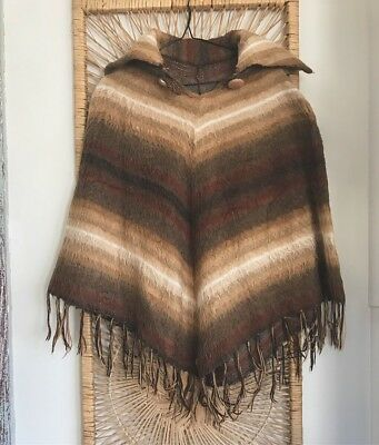 Vintage 70s mohair poncho