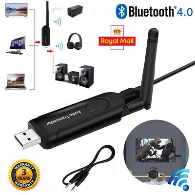 Wireless Bluetooth 4.1 Audio Transmitter USB A2DP Stereo Dongle Adapter 3.5mm TV