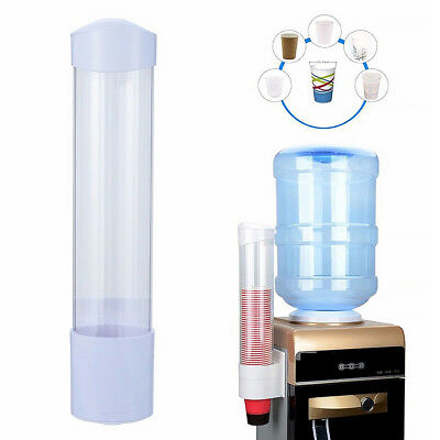 60Cups Paper Cup Dispenser Plastic Holder One Touch Button Anti Dust 5-7.5cm Cup