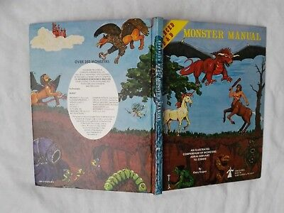 MONSTER MANUAL 1977 D&D 1st EDITION  DUNGEONS & DRAGONS SEHR GUT