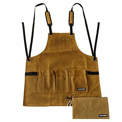 Work Shop Apron by Angry Beaver | BONUS Canvas Zipper Tool Pouch | Heavy Duty...