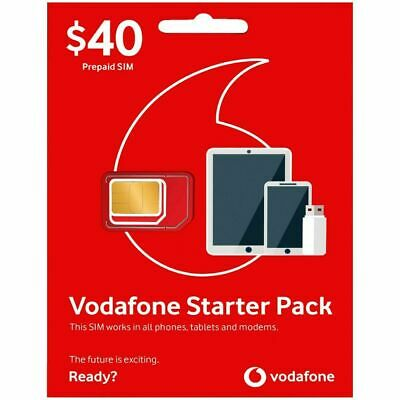 Vodafone $40 Prepaid Unlimited Calls & Text|6GB Data | 90 min Intl*buy2get1free*