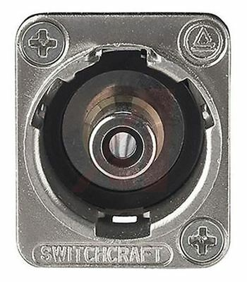 Switchcraft Black Panel Mount RCA Plug with Nickel Plated Contacts