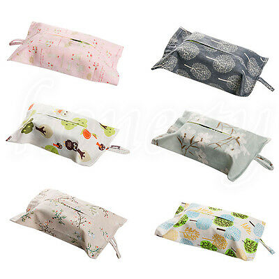 1pc Wall Hanging Type Cotton Tissue Box For Bathroom Toilet Paper Napkin Holder