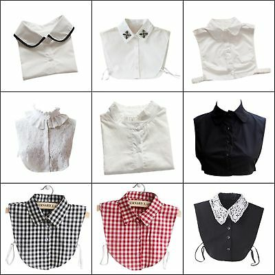 5Styles Women Peter Pan Detachable Lapel Shirt Fake False Collar Choker Necklace