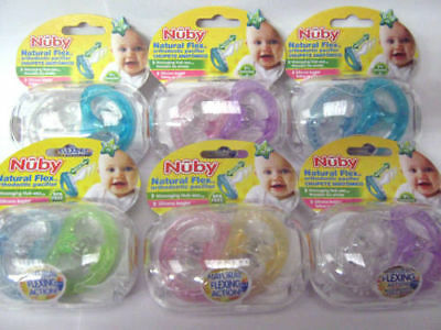 Nuby Natural Flex Silicone soothers   Age 0-6m - 6-18m  Boys or girls  Bpa Free