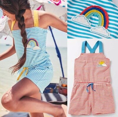 Girls Mini Boden Jersey Striped Playsuit 1 2 3 4 5 6 7 8 9 10 11 12Yrs