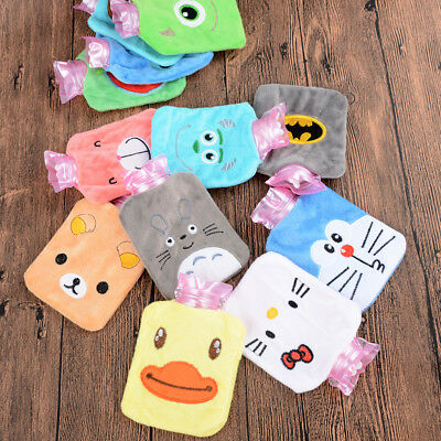Useful Plush Cartoon Thick Hot Water Bottle Bag Warm Relaxing Heat Cold Therapy