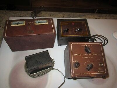 4 vintage television booster lot amplifier ANchor, RMS, Winegard