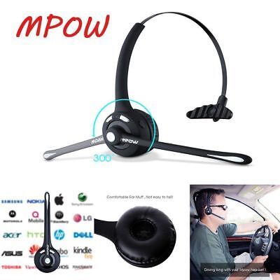 Mpow For Truck Driver Noise Cancelling Wireless Handsfree Bluetooth Mic Headset