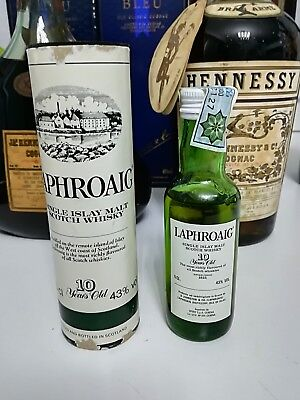 old mignon whisky Laphroaig 10 years old 5cl./43°