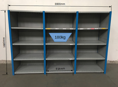 Dexion Impex 3 joined Bays Metal Boltless Shelving  £225.00 + vat