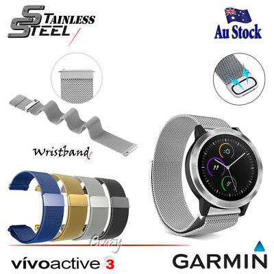 Replacement WristBand Magnetic Milanese Band for Garmin Vivoactive 3 Smart Watch