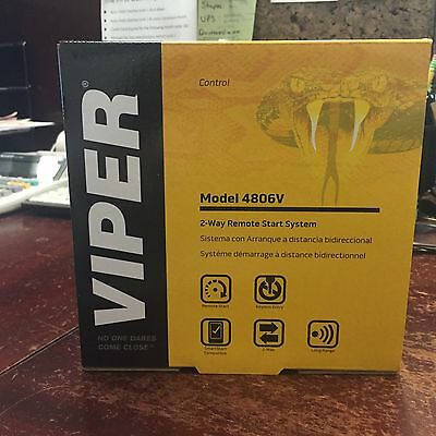 Viper Model 4806V 2-Way Remote Start (BRAND NEW UNIT)