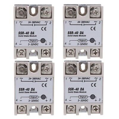 4x 24V-380V 40A SSR-40 DA Solid State Relay Module for Temperature Controll F2B6
