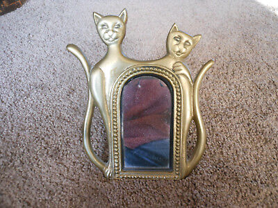 Vintage Penco Free Standing Brass Cat Mirror, Really Cute!