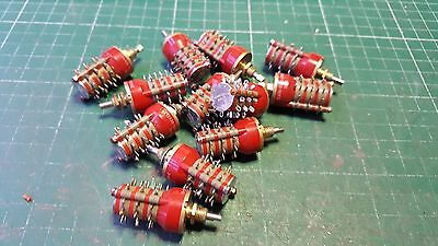 1 X Rotary Switch 1 Pole 10 Position on each Wafer  3 Wafer GrayHill Mil Spec