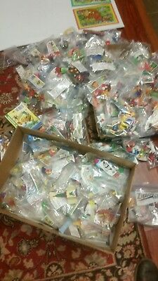 Lot of 400  Kinder Egg Surprise Toy, Some Rare Item - all in bags only displayed