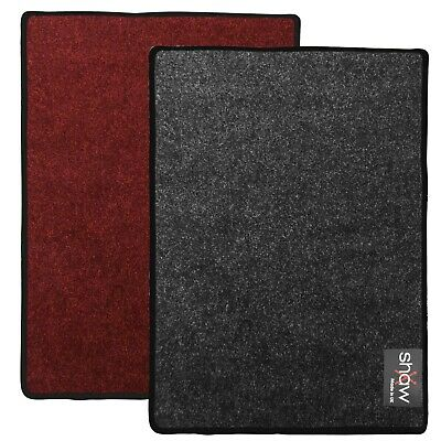 Shaw Multimat 75cm x 25cm Small drum mat - Charcoal/Red